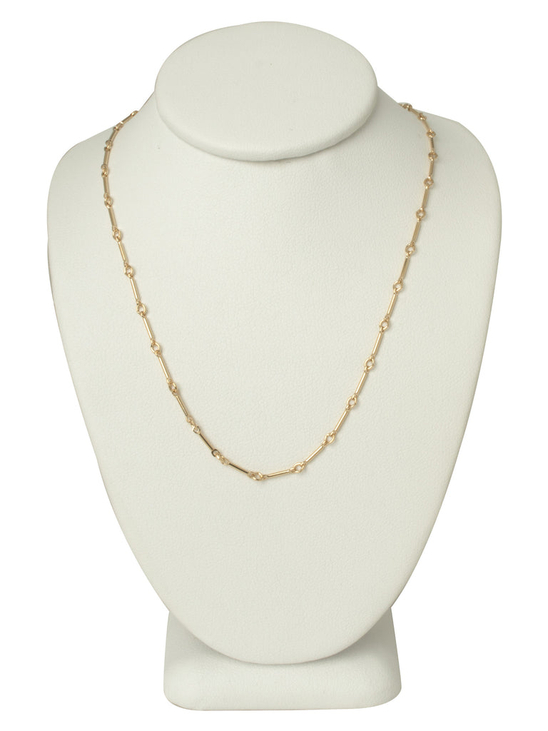 Gold Line Chain Necklace