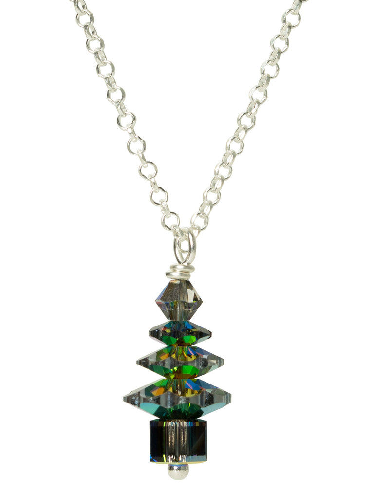Evergreen Crystal Tree Necklace - SMALL