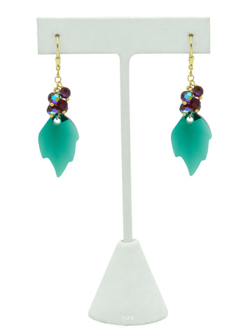Holly Berries Crystal Earrings
