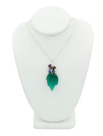 Holly Berries Crystal Necklace