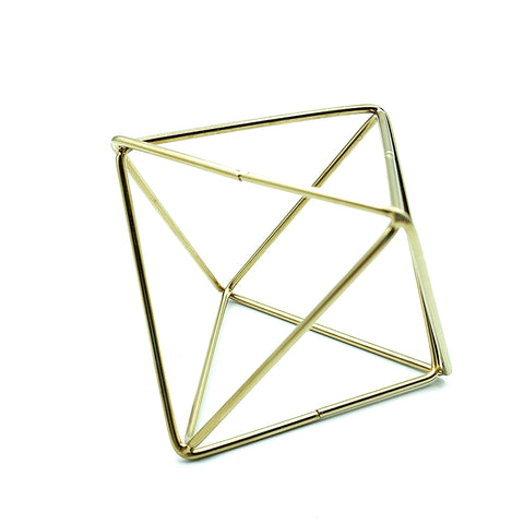 Gold Polygon Stand
