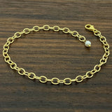Gold Smooth Oval Chain