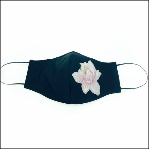 Pink Lotus Flower Mask with Filter and Nose Wire