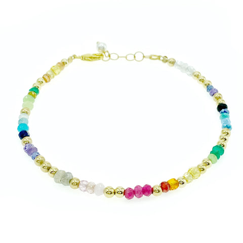 Rainbow Gemstone Nugget Bracelet