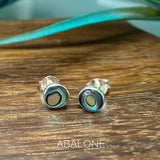 Gemstone Bezel Stud Earrings