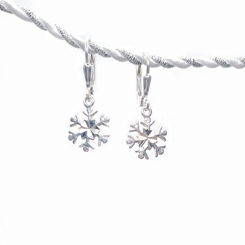 Twinkle Silver Snowflake Earrings