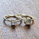 Labradorite Stacking Rings - Size 6