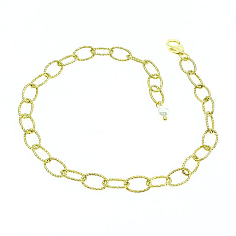 Gold Shimmer Oval Chain