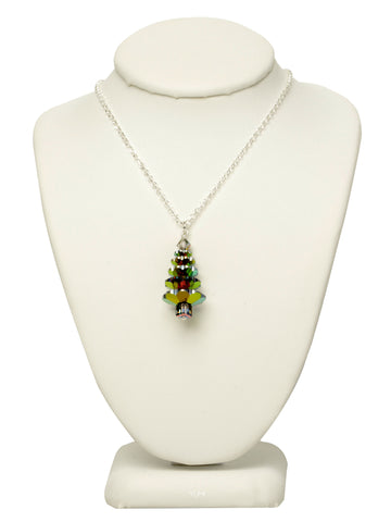Evergreen Crystal Tree Necklace - LARGE
