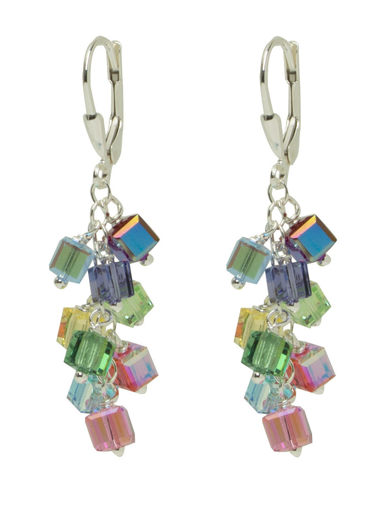 Logo Crystal Charm Earrings