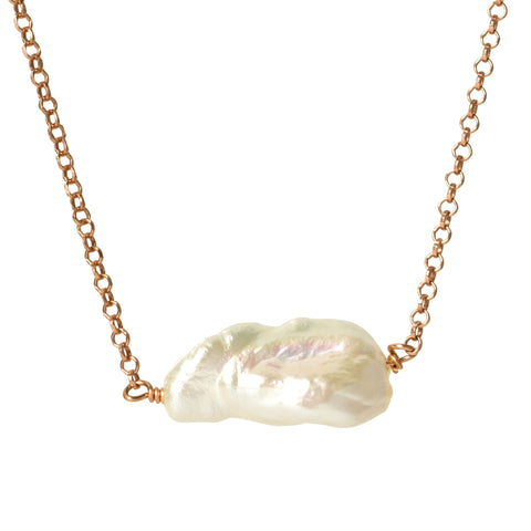 Mother of Pearl Abstract Necklace