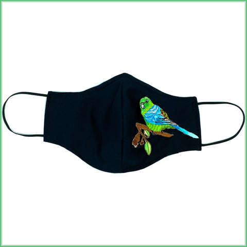 Parakeet Bird Mask with Filter and Nose Wire