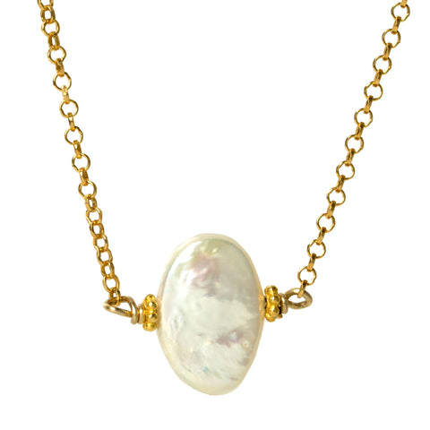 Mother of Pearl Dot Necklace