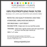 100% POLYPROPYLENE MASK FILTER - 3 PACK