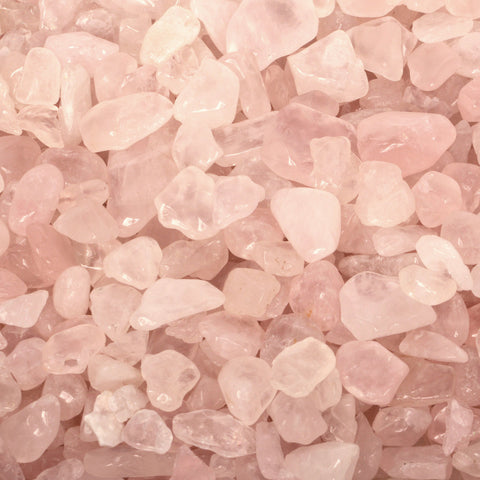 1 LB Natural Rose Quartz Chips