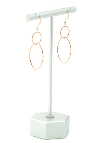 Rose Gold Modern Shapes Earrings