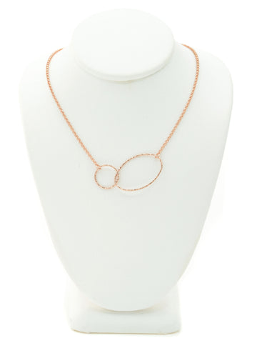 Rose Gold Modern Shapes Necklace