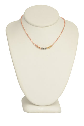 Tri-Colored Shimmer Bar Necklace