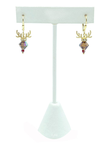 Rudolph Reindeer Crystal Earrings