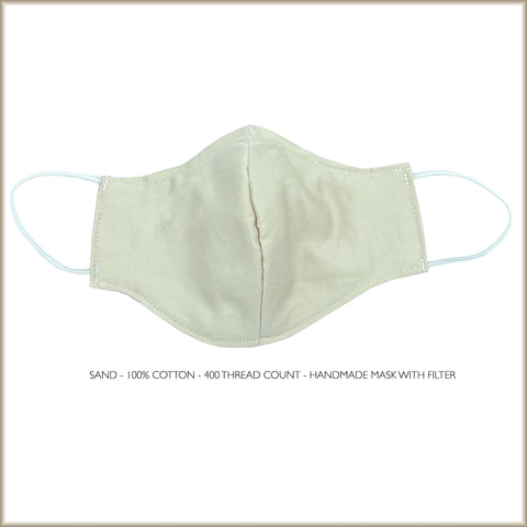 SAND Cotton Face Mask With Filter and Nose Wire
