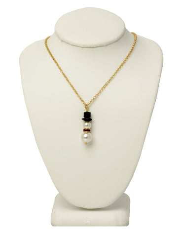 Happy Snowman Necklace