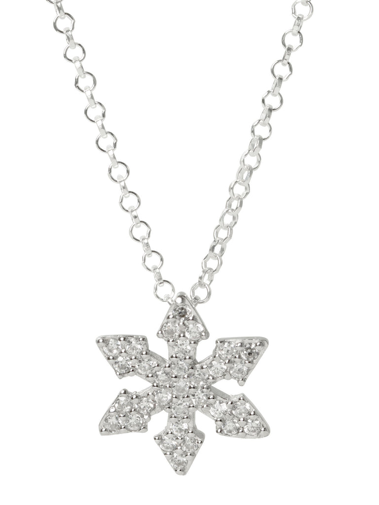 Snowflake Arrows CZ Necklace