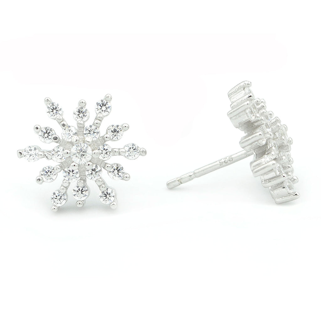 Snowflake Starburst Stud Earrings