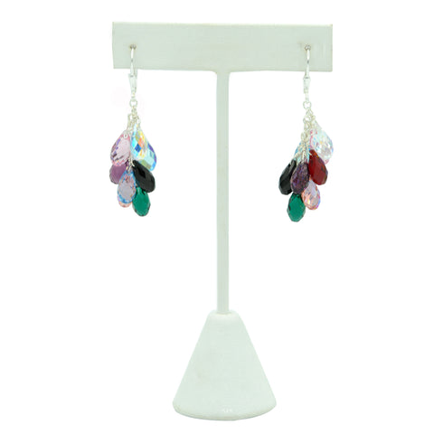 Rainbow Teardrop Crystal Earrings
