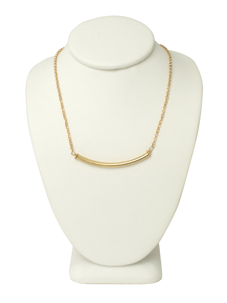 Thin Gold Bar Necklace