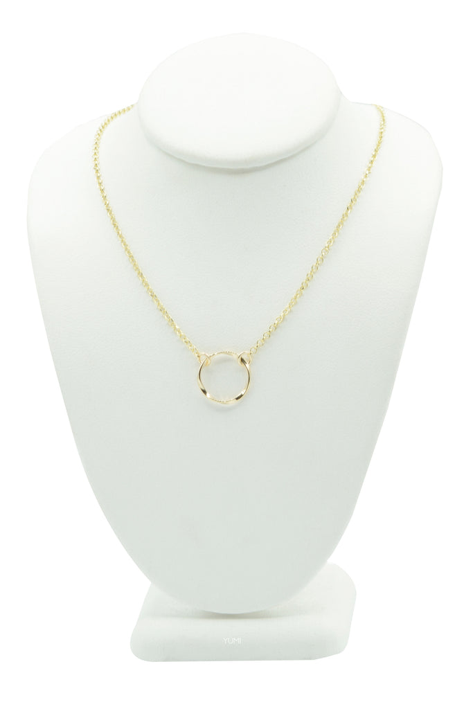 Eternity Twist Circle Necklace