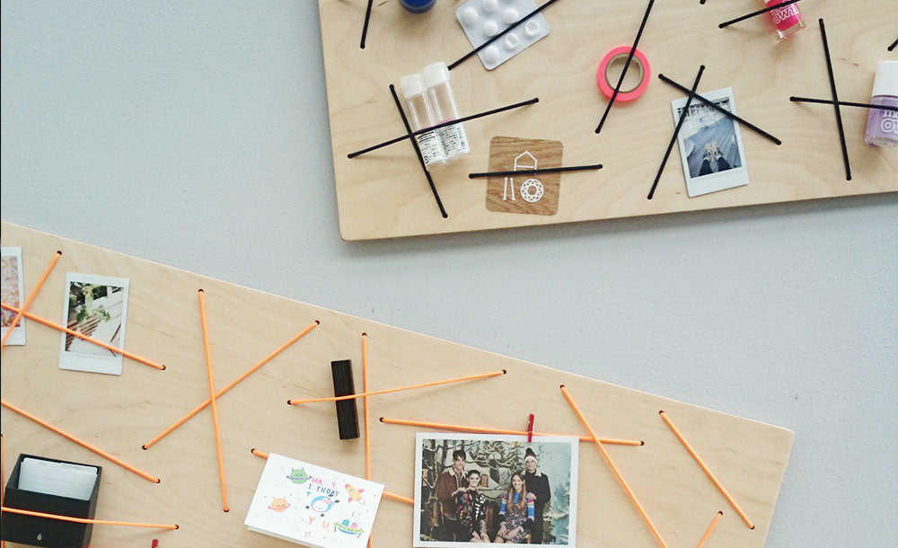 Clever wooden notice boards