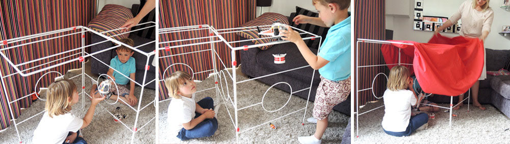 Clothes house play den washing airer