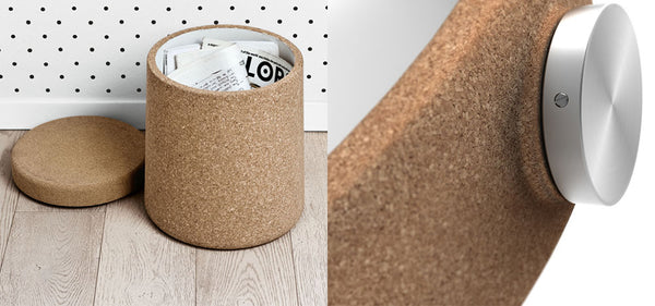 Cork stool with storage and cork watch