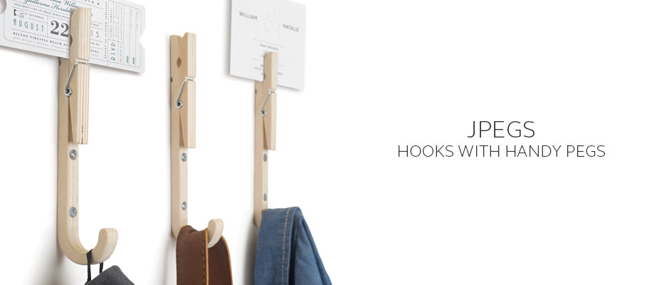 Jpegs wooden coat hooks with handy pegs by THABTO