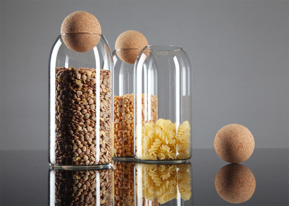 Luna Cork storage Jars design by Martin Jakobsen