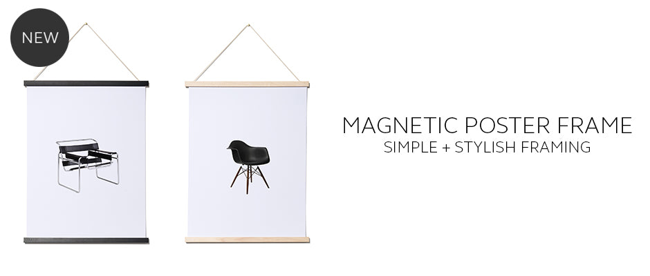 Magnetic Poster Frames for hanging prints and art by THABTO