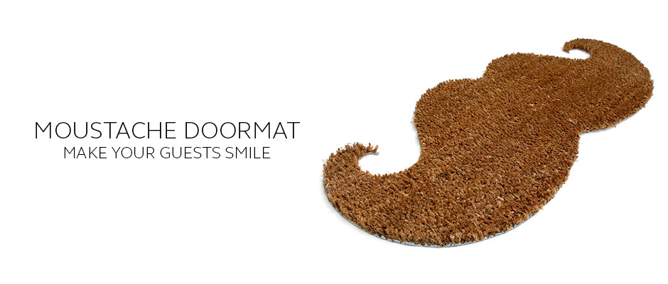Moustache Shaped Doormat makes a great Christmas Gift