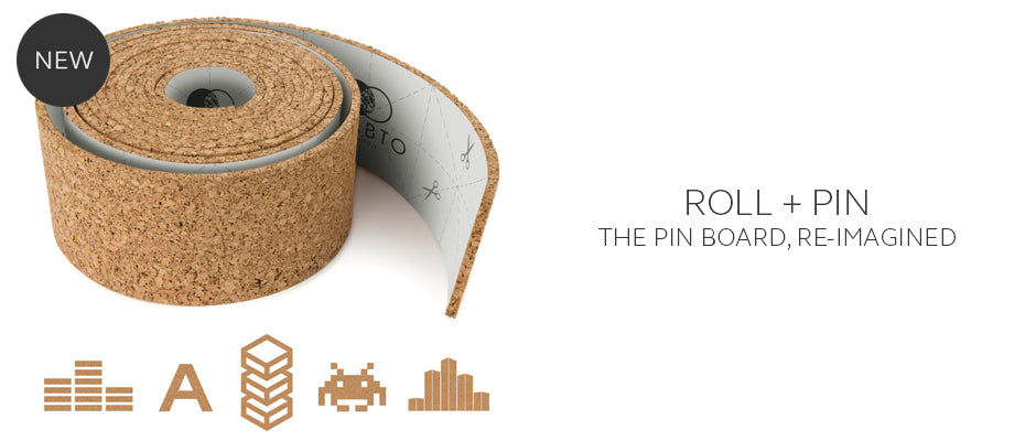 ROLL + PIN creative pinboard the memo board on a roll