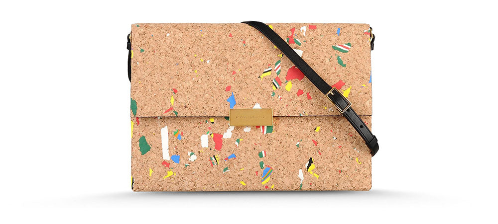 Cork handbag design with colour fleck by Stella McCartney