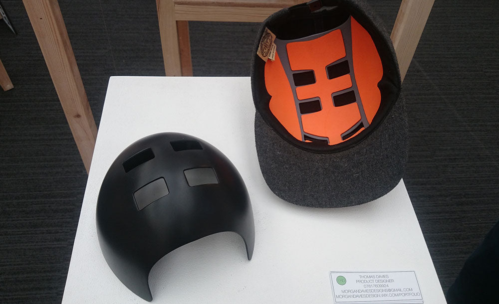 Hardpanel by Tom Davies discreet skaters helmet design
