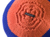 Round Knitted Ball Cushion in blue by Stine Leth for Korridor Design