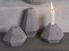 Concrete Candle Holders in grey by Korridor Design