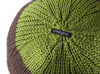 Round Knitted Ball Cushion in green and curry by Stine Leth for Korridor Design