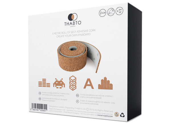 ROLL + PIN cork pin board in gift box by THABTO