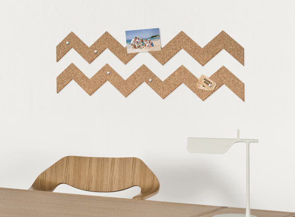 Zig zag ROLL + PIN cork pin board by THABTO