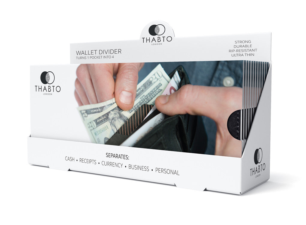 Wallet Divider counter display unit