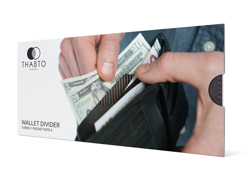 Wallet Divider gift packaging by THABTO