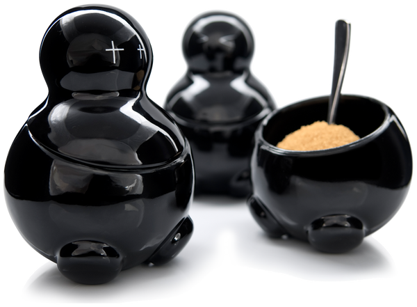 LEX, SETH & CARRIE black tea sugar and coffee storage jars by THABTO