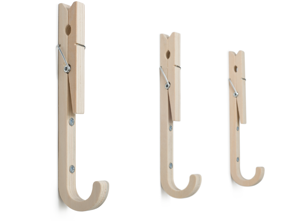 Jpegs Contemporary Wooden Coat Hooks With Handy Pegs