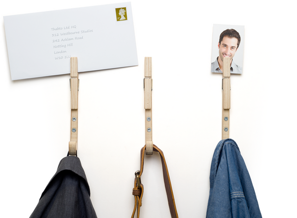 Stylish wooden coat hooks in plywood Jpegs by THABTO